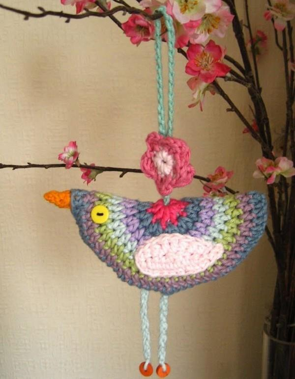 Movil Pajaros de Crochet. Descoracion