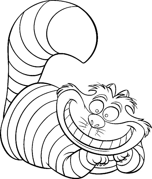 Alice In Wonderland Coloring Pages  Free Printable Disney Alice In  Wonderland Cartoon Coloring Pages