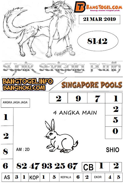 PREDIKSI TOGEL SINGAPOREPOOLS 21 MARET 2019