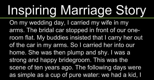 What really matter in a relationship - A Very Heart Touching and Inspiring Marriage Story