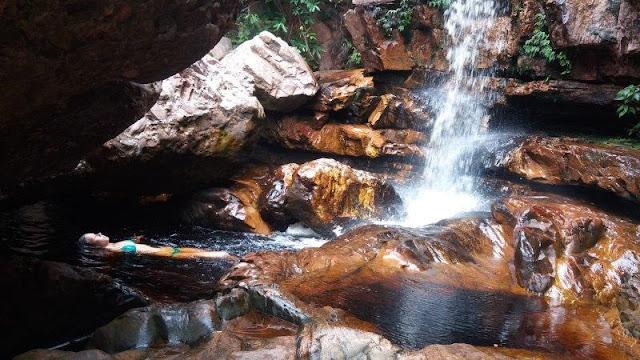 Parque Municipal do Serrano : cachoeira da primavera