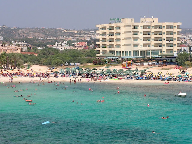 Beach of Agia Napa in Cyprus