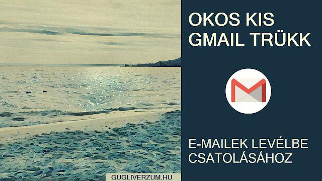 Egyedi e-mai vagy -email beszélgetés csatolása e-mailbe