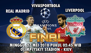 Prediksi Bola Real Madrid vs Liverpool 27 Mei 2018