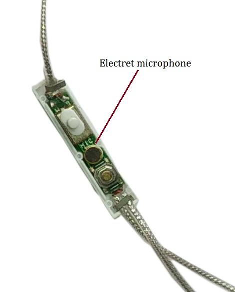 Microphone inside headphones