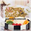 Topper Kue HAPPY BIRTHDAY Glitter Gold & Silver