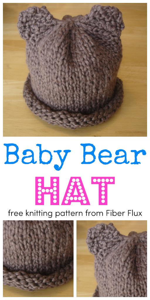 Fiber Flux: Free Knitting Pattern   Baby Bear Hat for
