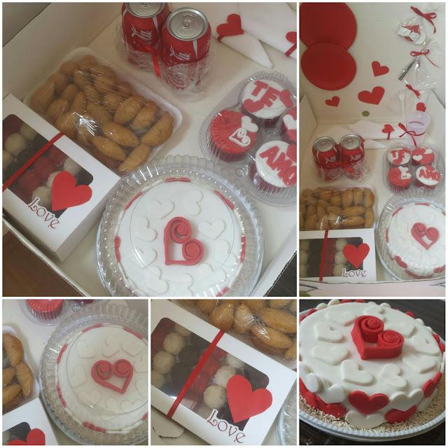 Festa na Caixa - Tema Romântica - Vermelha e Branca