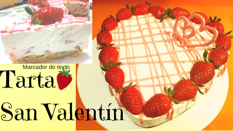 tarta de queso fácil sin horno,tarta de san valentin sin horno
