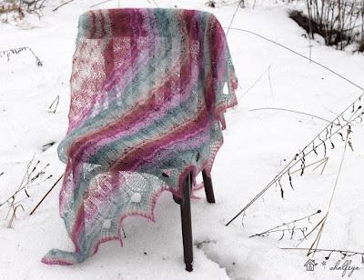 шаль Зимняя оттепель кид-мохер