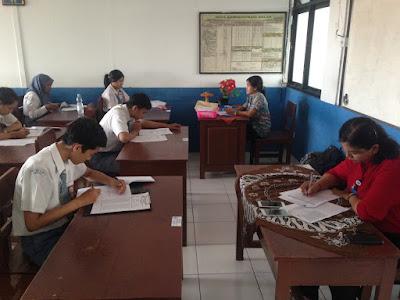 Ujian Sekolah Berstandart Nasional (USBN) SMK TI Bali Global Denpasar Berlangsung Tertib dan Lancar