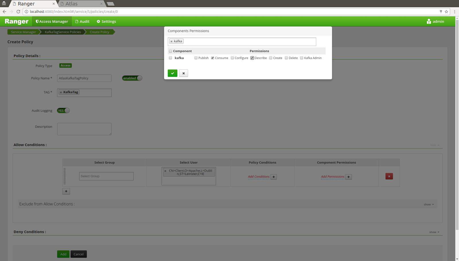 Open Source Security: Securing an Apache Kafka broker using