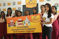Actress Priya Anand in T Shirt with Students of Shiksha Movement Events 30.jpg