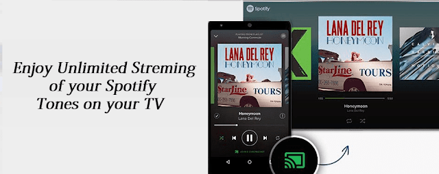 google chromecast features - Spotify
