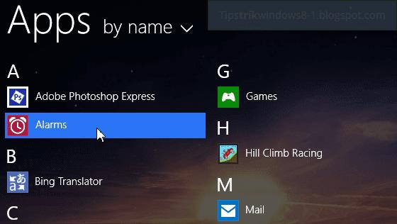 apps view dengan tampilan kecil/icon kecil