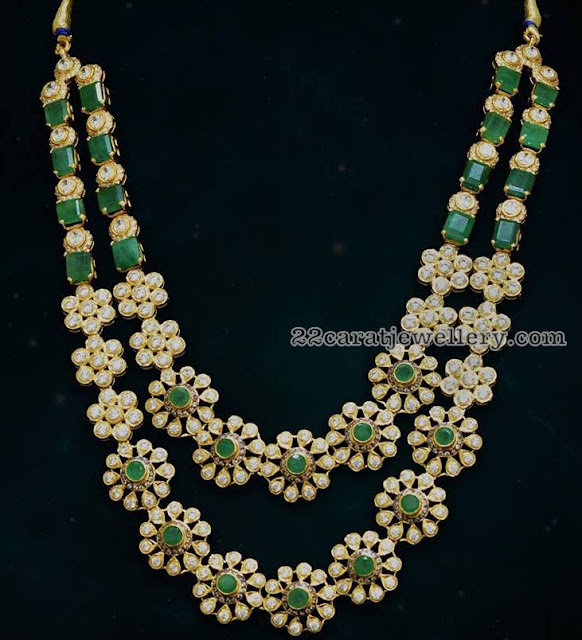 Trendy Diamond Emerald Sets