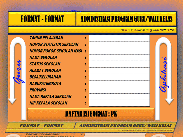 Download Aplikasi Administrasi Program Guru/Wali Kelas Lengkap