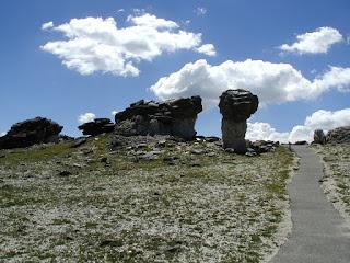 Schist over granite rock formations.