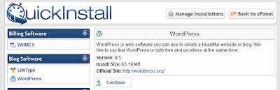 Cara Instal WordPress Dengan QuickInstall