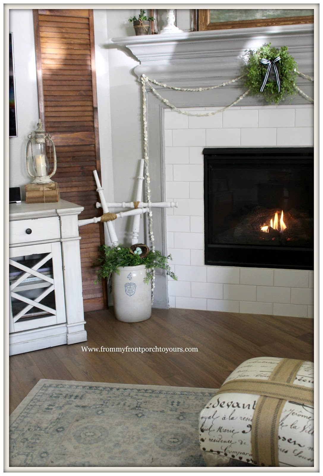 French Country Fireplace From My Front Porch To Yours French Country Farmhouse Fireplace