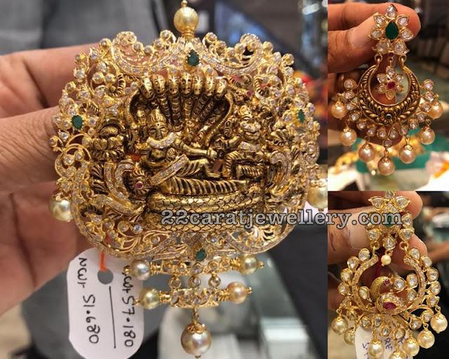 Lord Vishnu Pendant Chandbalis