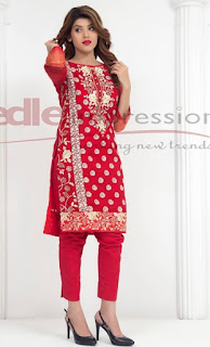 Valentine's Red Dresses in Pakistan