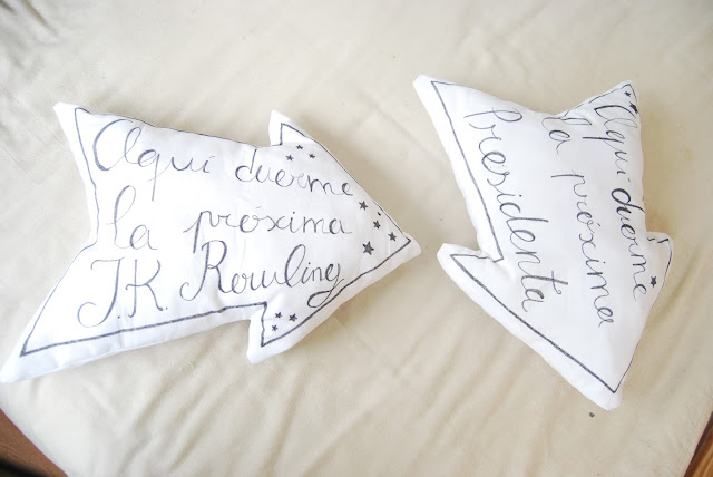 tutorial cojín en forma de flecha. DIY arrow shape cushion