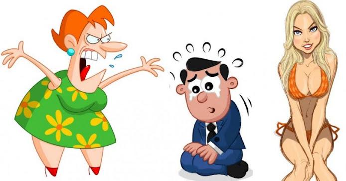 Ανέκδοτο: Μια γυναίκα φτάνει σπίτι και βρίσκει τον άντρα πάνω σε μια νεαρή...