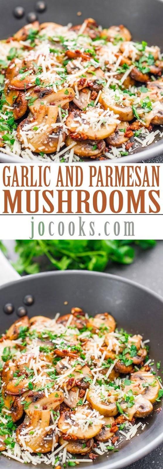 Keto Sauteed Garlic and Parmesan Mushroomsac