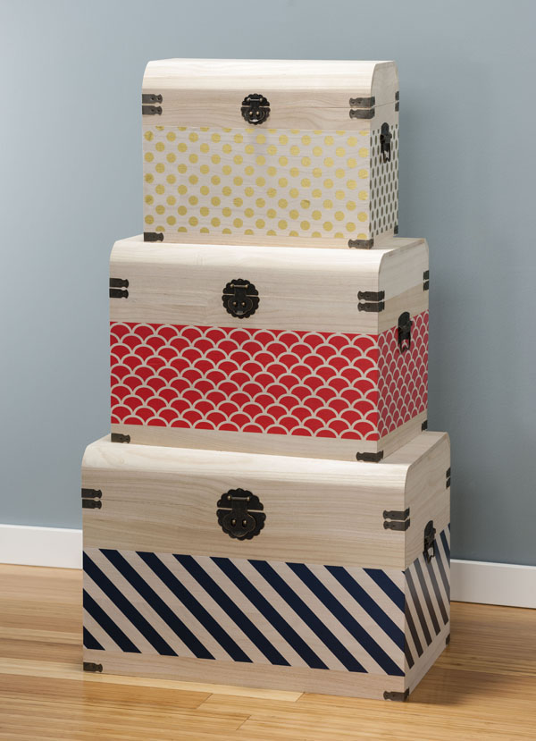 Jazz It Up Washi Tape Trunks @craftsavvy @sarahowens @hazelandruby #craftwarehouse #frame #washitape #hazelandruby