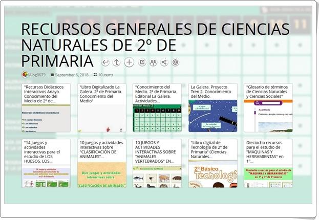 """""""10 RECURSOS GENERALES DE CIENCIAS NATURALES DE 2º DE PRIMARIA"""""""