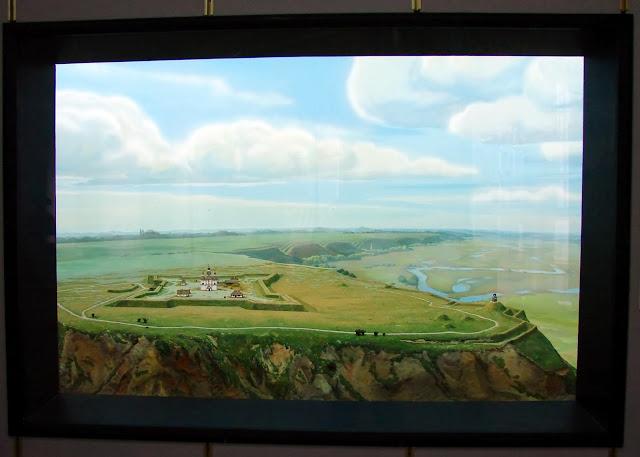 Диорама - древняя крепость на месте Полтавы