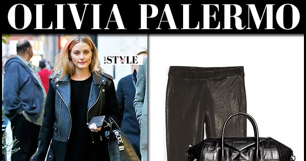 37da28b8703 Olivia Palermo in black biker jacket and black leather leggings in New York  November 2016 ~ I want her style - What celebrities wore and where to buy it .