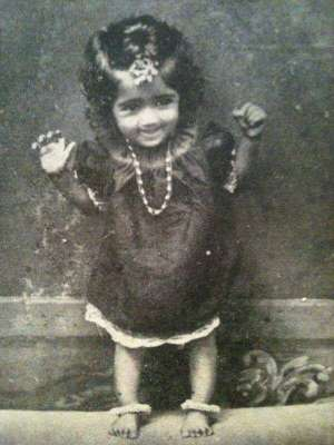 Lata Mangeshkar in childhood