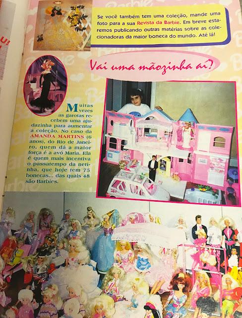 Página com fotos de colecionadoras de Barbie