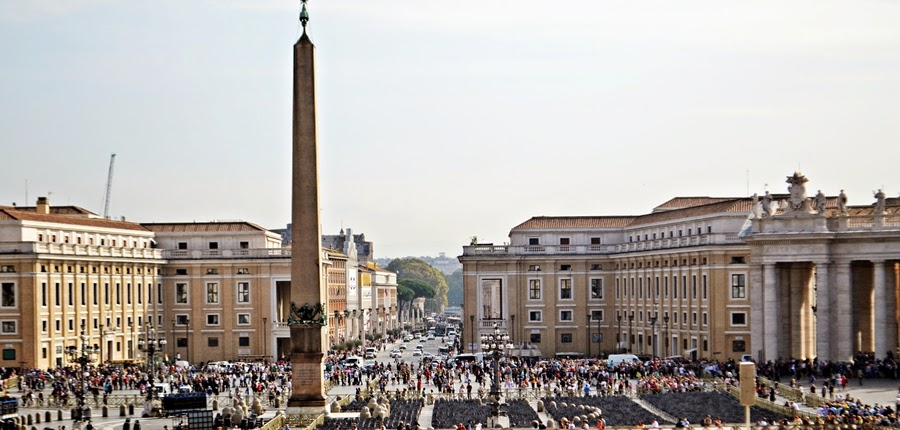 View of St Peter's Square from the Basilica