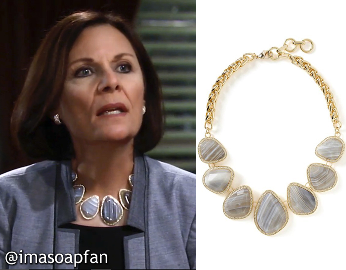 General Hospital, GH, Jane Elliot, Agate Statement Necklace, Tracy Quartermaine,