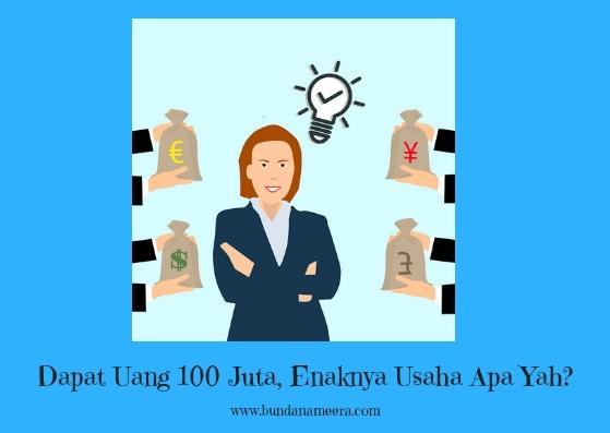 Dapat Uang 100 Juta, Enaknya Usaha Apa Yah?, foto uang 100 juta, 100 juta