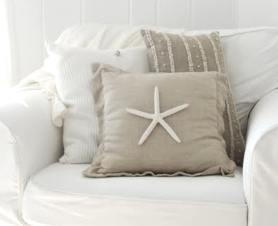 decorate pillow with starfish