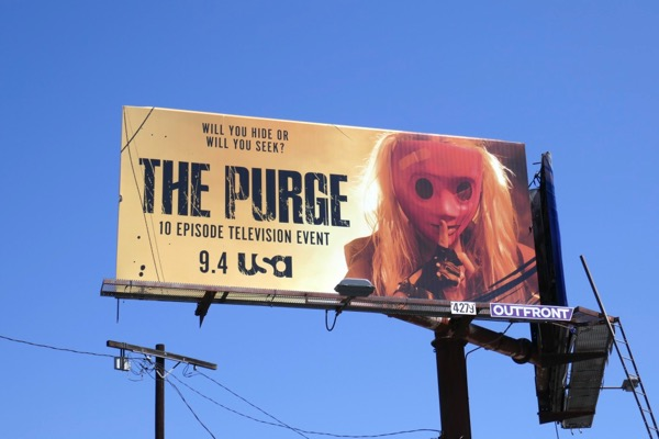 Purge TV event billboard
