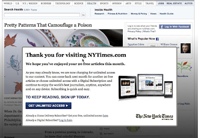 NYT launches paywall - Media Moves
