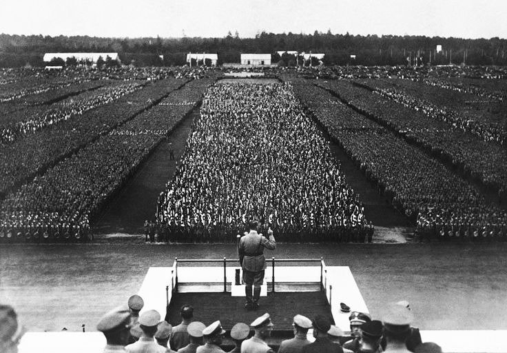 Hitler addressing 1935 party rally worldwartwo.filminspector.com