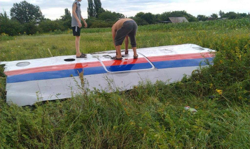 Foto MAS MH17 Amsterdam-Kuala Lumpur crash Ukraine