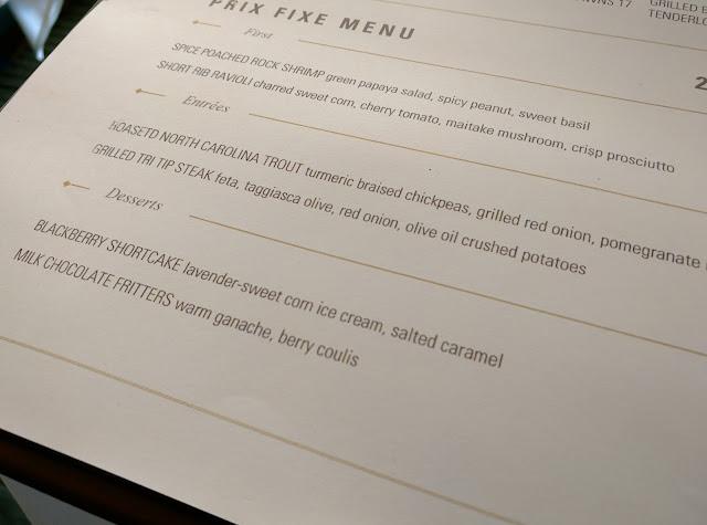 Charlie Palmer Steak Restaurant Week Menu Nyc