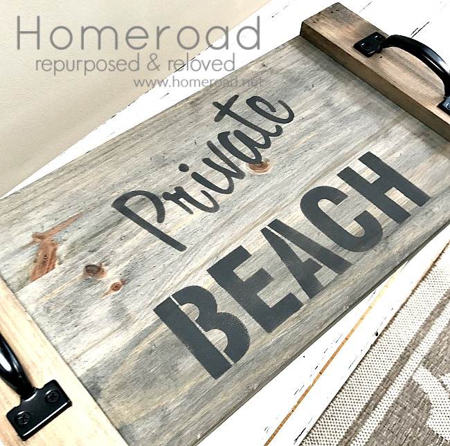 private beach sign tray