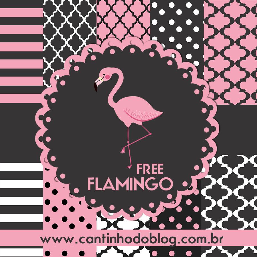 Kit Digital Flamingo Gratis Para Baixar Cantinho Do Blog