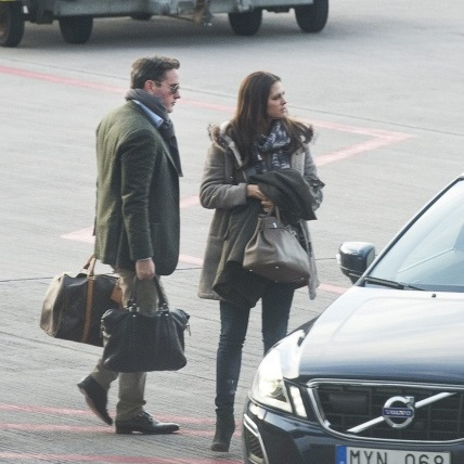 Princess Madeleine and her fiance Chris O'Neill have been seen in Stockholm
