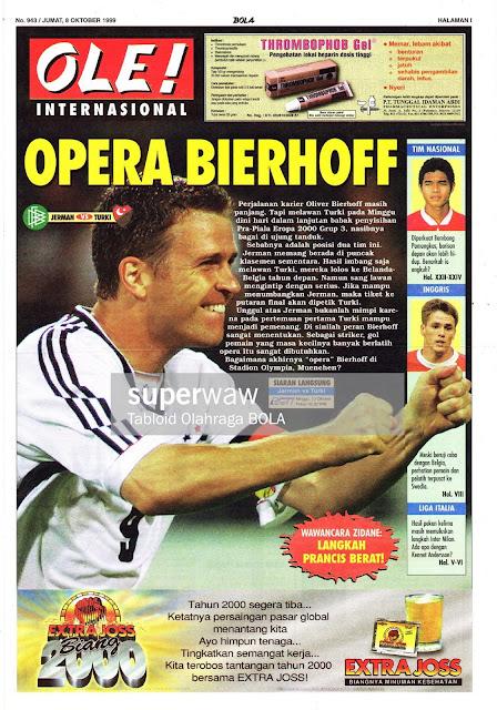 OLIVER BIERHOFF OF DEUTCHLAND GERMANY VS TURKEY