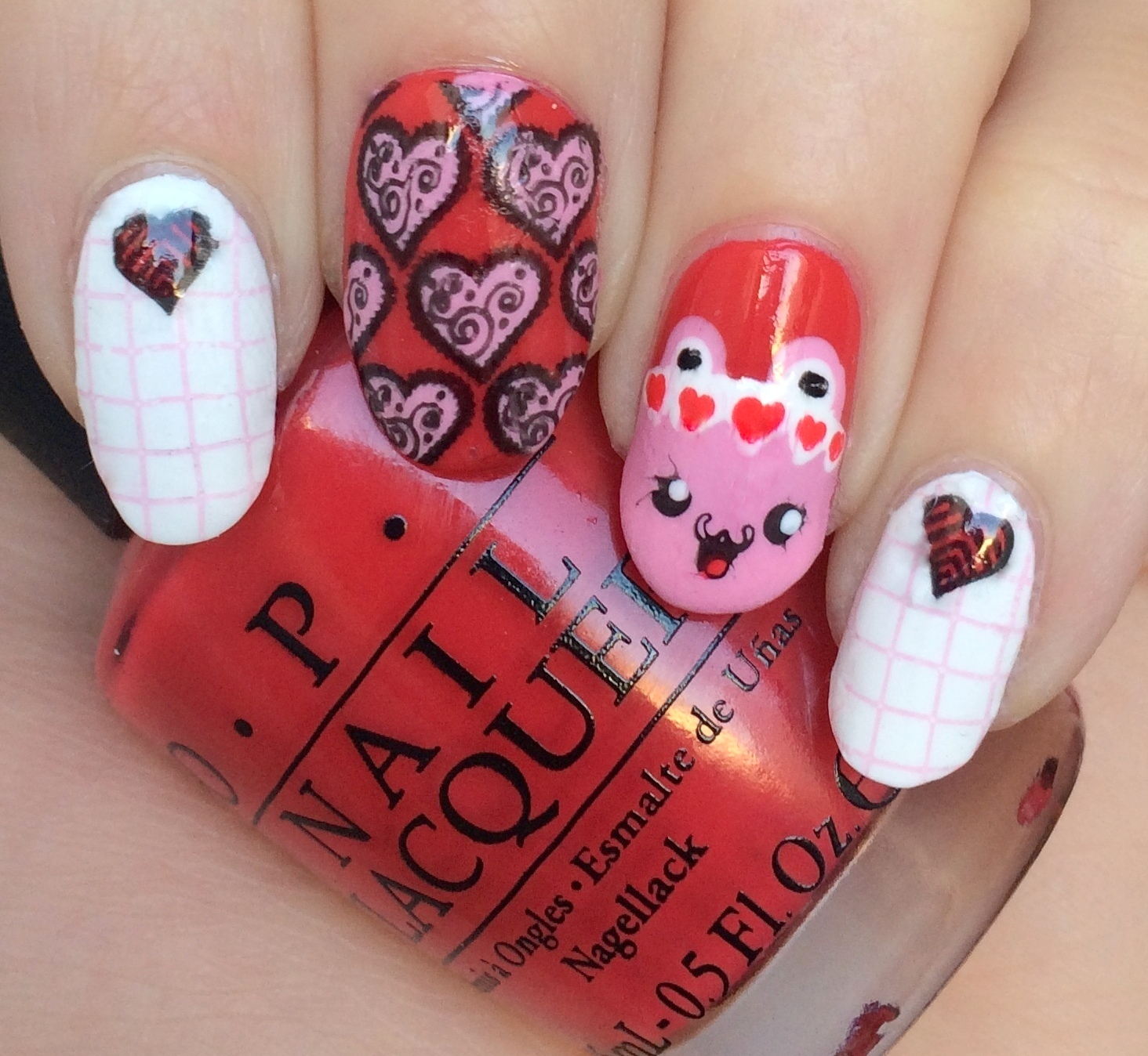 Midnight Stamper 26 Great Nail Art Ideas Red And Pink