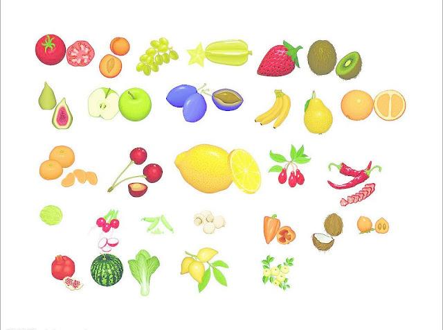 vector trái cây Rau Củ Quả